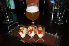 Ahi tuna tacos and craft beer at Fleur, the perfect lunch!