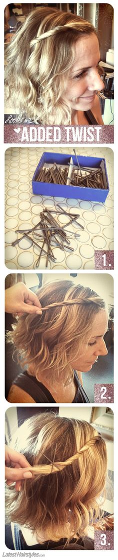 3 Hairstyles Anyone Can Do With a Short Bob Haircut - #2 Added Twist