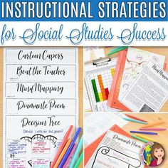 This Social Studies Strategies for Success is a guide book full of engaging, purposeful teaching strategies that provide students a rich learning experience. 6th Grade Social Studies, Social Studies Resources, Teaching Social Studies, Teacher Resources, Instructional Coaching, Instructional Strategies, Teaching Strategies, Teaching Tips, History Teachers