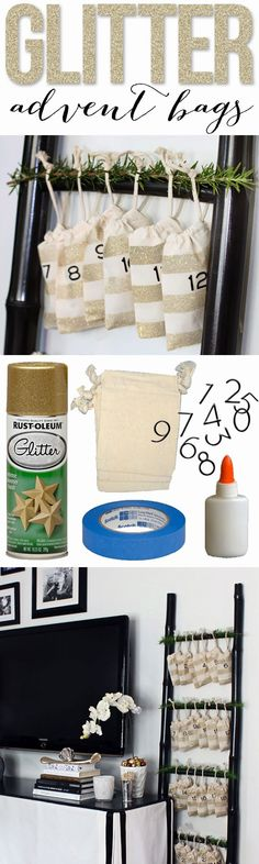 Don't forget the glitter! Make these DIY Glitter Advent Bags to celebrate the season.