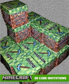 Or box yourself in. | 31 DIY Birthday Party Ideas That Will Blow Your Minecraft