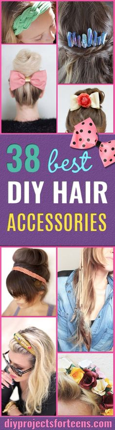 Simple step by step hairstyles for school: 38 creative DIY hair accessories - creating . Simple step by step hairstyles for school: 38 creative DIY hair accessories – create pretty hair Teen Girl Hairstyles, Hairstyles For School, Headband Hairstyles, Trendy Hairstyles, Creative Hairstyles, Hair Accessories Holder, Hair Accessories For Women, Teen Hair Bows, Step By Step Hairstyles