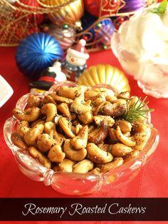 Rosemary Roasted Cashews -  Kitchen_Dreaming