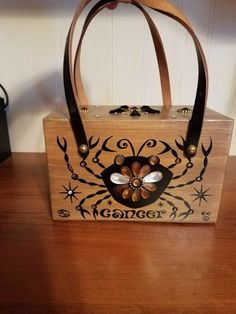 "VINTAGE Enid Collins Original Box bag ""Cancer"" #EnidCollins"