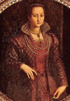 Agnolo di Cosimo (Italian, 1503-1572), usually known as Bronzino ~ Portrait of Elenora di Toledo (1522-1562) ~ 1572