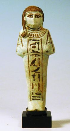 Egyptian Blue-Green Faience Ushabti of Hori
