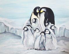 Pinguine - Acryl auf Leinwand