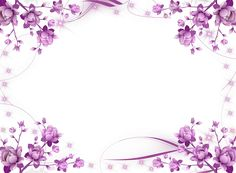 Purple Flower Frame | Purple-Flowers-and-Sparkly-Stars-Picture-Frame