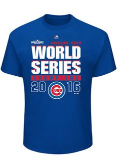 Majestic Chicago Cubs Mens Blue Champions Tee World Series Shirts 7dc5d1994