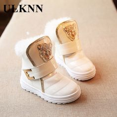 57e614a0d0002 Kids Shoes Children 2017 Fashion New Thicken The Girls Really Rabbit Plush  Warm Leopard Baby Snow boots Leisure Wild Boys Shoes