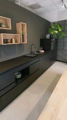 Industrial Kitchen Design, Kitchen Pantry Design, Kitchen Cabinet Styles, Kitchen Cabinetry, Modern Kitchen Design, Home Decor Kitchen, Interior Design Living Room, Home Kitchens, Home Room Design