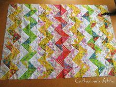 Zigzag quilt top! | Flickr - drawn to the zigzag