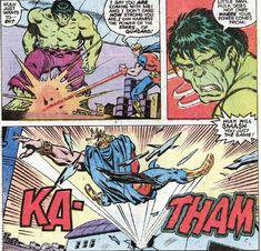 Hulk vs Quasar by Sal Buscema