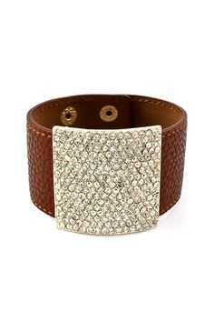 leather cuff and bling
