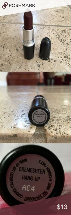 Authentic MAC Lipstick 100% REAL MAC Lipstick OR YOU FULL $$$ BACK GUARANTEE! SHADE: HANG UP PLEASE NOTE: DUE TO NOT HAVING BOX, PRICE IS REDUCED! 100% AUTHENTIC OTHERWISE!!!! MAC Cosmetics Makeup Lipstick