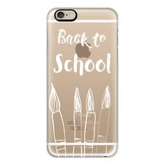 iPhone 6 Plus/6/5/5s/5c Case - Back to School in white - crystal clear... (305 GTQ) ❤ liked on Polyvore featuring accessories, tech accessories, phone cases, phones, extra, iphone case, clear iphone cases, iphone cover case, white iphone case and apple iphone cases