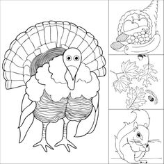 Free Thanksgiving coloring pages, from @no way LeBaron. #printable #Thanksgiving