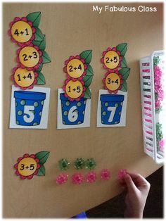 Spring Math Centers. Practice adding number within 10, sums of ten, teen numbers, and more.
