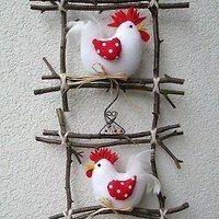 Prodané zboží od Jalis - Big Mäc Salat Felt Crafts, Easter Crafts, Fabric Crafts, Christmas Crafts, Christmas Ornaments, Chicken Crafts, Chicken Art, Diy Crafts To Sell, Crafts For Kids