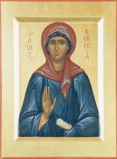 Rebecca the Righteous St P, Byzantine Icons, Orthodox Christianity, Orthodox Icons, Saints, Female, Artwork, Pictures, Painting