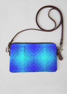 Statement Clutch - Blue Eyes Mosaic, Clutch in Blue/White by VIDA Original Artist Vida Design, Blue Eyes, Mosaic, Blue And White, The Originals, Pattern, How To Make, Leather, Contemporary