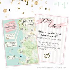 Custom Wedding Map Phuket Thailand Map by FeatheredHeartPrints