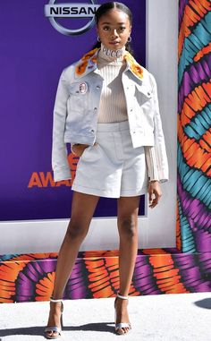 Skai Jackson from BET Awards Red Carpet Arrivals The actress strikes a pose on the red carpet. Dresses For Teens, Outfits For Teens, Trendy Outfits, Nice Dresses, Cool Outfits, Ski Jackson, Teen Celebrities, Celebs, Teen Fashion Outfits