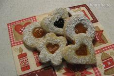 Jemné linecké koláčiky - recept | Varecha.sk Biscuit Recipe, Bagel, Biscuits, Cooking Recipes, Bread, Cookies, Sweet, Food, Crack Crackers