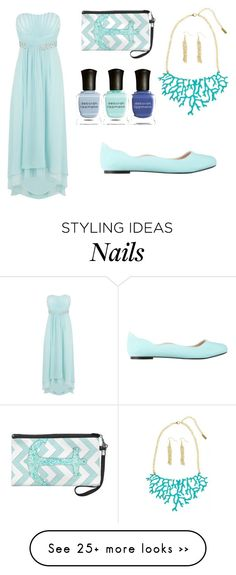"""sea"" by ladonyilulu on Polyvore featuring Coast, Deborah Lippmann and ZALORA"