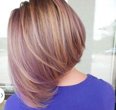 """This """"lavender blonde"""" bob was achieved by mixing Purple Passion and our pastelizer & is the perfect amount of subtle color Blond Rose, Dark Blonde Hair, Medium Hair Styles, Short Hair Styles, Lavender Hair, Hair Journey, Great Hair, Hair Today, Purple Hair"""
