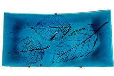 TOINI MUONA, A CERAMIC PLATE. Signed TM, 1933. Arabia. Leaf motif, turquoise glazing. 26,5x50,5 cm Ceramic Plates, Ceramic Art, Tapestry, Turquoise, Ceramics, Glass, Home Decor, Pottery Plates, Hanging Tapestry