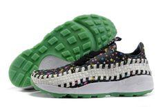 super popular 186c8 fc178 Nike Air Footscape Woven Chukka Negro Verde Blanco Hombre Zapatillas HOT  SALE! HOT PRICE!