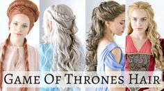 Happy Halloween! Here's a hair tutorial on 4 iconic game of thrones hairstyles for all you hairaholics! No surprise, I love the hair styles from Game of Thro...