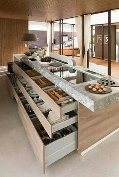 Amazing kitchen. Granite & wood!