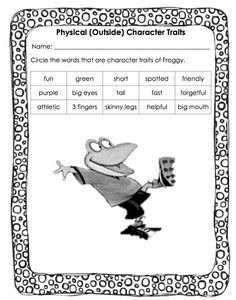 Floating Through First Grade: Character Traits