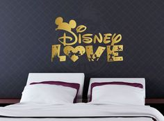 Disney Love Wall Vinyl Decal, Home Decor, Mickey & Minnie Mouse, Cinderella…