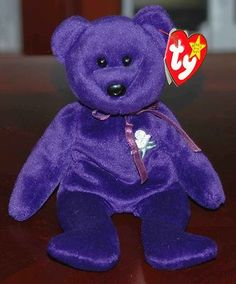 RARE 1997 TY PRINCESS DIANA PURPLE BEANIE BABY - I have her! Purple Love 89fb1a2e6b1