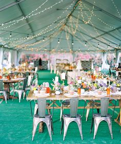 bohemian wedding in a tent - Melissa Jill Photography