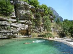 Another natural pool in the Voidomatis river, Zagori region, Greece