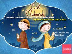 #EidMubarak #Greetings #Selamat #Lebaran #IedulFitri 2015 from jalanja