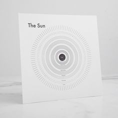 Sun Letterpress Print
