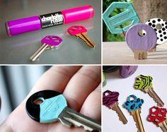 DIY Painting keys with nail polish - QTPlace