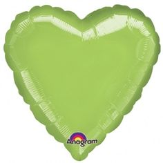 "18"" Heart Lime Green Foil"