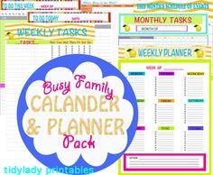Digital Download - Calander and Planner Printables - Home Organization - Home Management Binder - PDF Printables - 7 Documents - TL18. $8.00, via Etsy.
