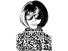 These Designs by Yiying Lu Feature Anna Wintour with a QR Code Top..