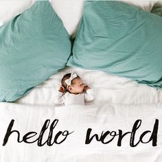 Hello World!  @littlerimels  spearmintLOVE.com #taptoshop
