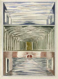 Paul Nash 'Three Rooms', 1937 © Tate