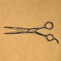 Antique Hairdresser Shears Vintage Print Salon Barber Scissors Wall Art Print with Antique Paper Style Background No.1450 B2 8x8 8x10 11x14 @ sparrowhouseprints.etsy.com