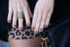 Colorful patterned nails -- Love!