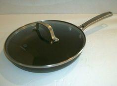 "Calphalon Classic Aluminum Anodized 10"" Skillet Fry Pan #1390 With Glass Lid #Calphalon Calphalon Cookware, Skillet, Fries, Classic, Derby, Classic Books"